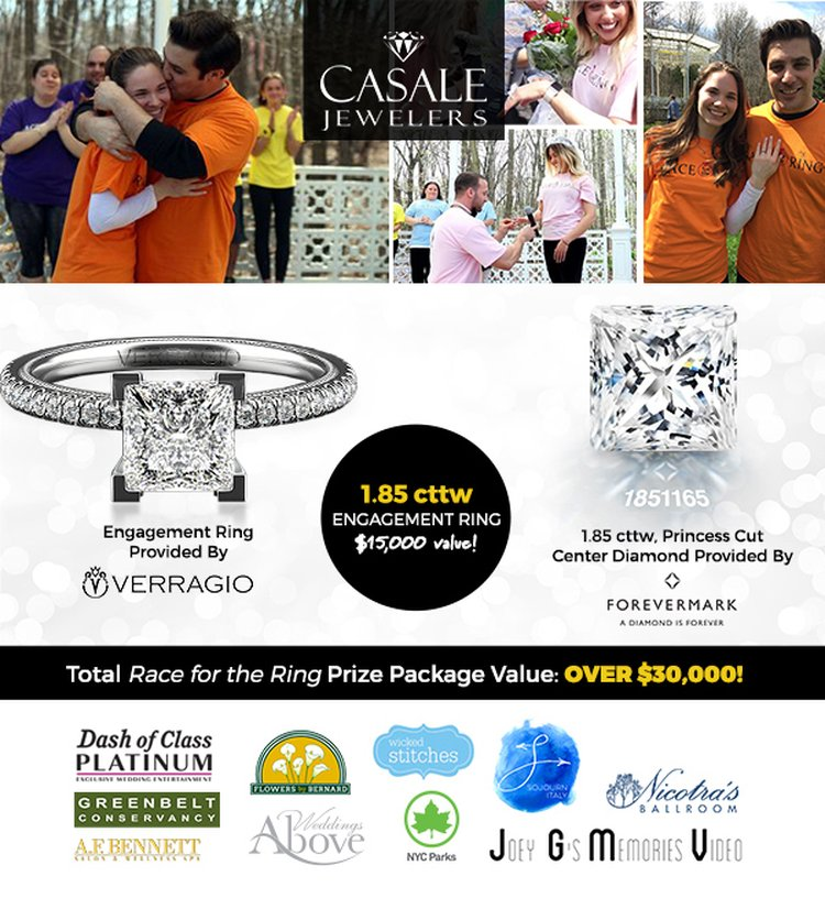 Race for the $15,000 Engagement Ring and $15,000 in Prizes