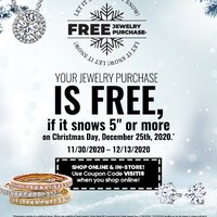 "Let it Snow - 5"" or more and you get a FULL Refund on your purchase"